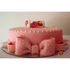 Бебе, в розово, с панделка