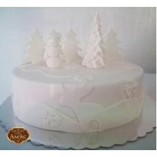 Бяла Коледна торта