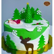 Коледна торта с бебе